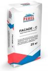 Серая цементная шпатлевка FACADE - C
